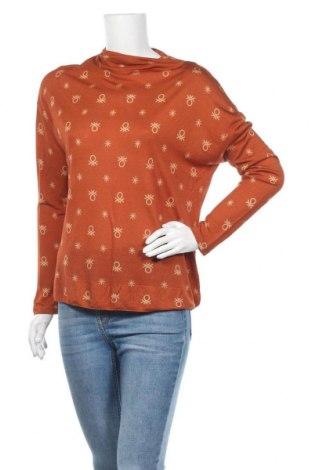 Γυναικεία μπλούζα United Colors Of Benetton, Μέγεθος L, Χρώμα Πορτοκαλί, 85% βισκόζη, 15% μαλλί, Τιμή 11,69€
