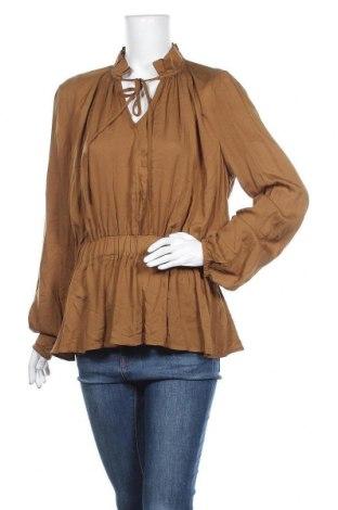 Дамска блуза Zebra, Размер L, Цвят Зелен, Вискоза, Цена 19,85лв.
