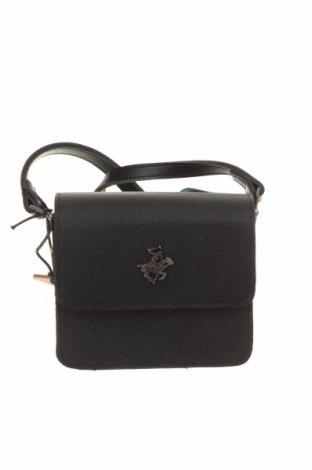 Γυναικεία τσάντα Beverly Hills Polo Club, Χρώμα Μαύρο, Δερματίνη, Τιμή 18,25€