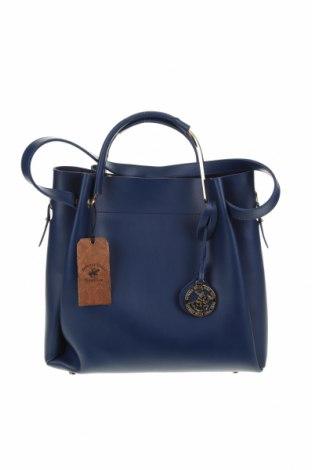 Дамска чанта Beverly Hills Polo Club, Цвят Син, Еко кожа, Цена 72,27лв.
