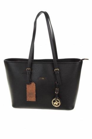 Γυναικεία τσάντα Beverly Hills Polo Club, Χρώμα Μαύρο, Δερματίνη, Τιμή 37,25€