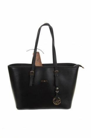 Γυναικεία τσάντα Beverly Hills Polo Club, Χρώμα Μαύρο, Δερματίνη, Τιμή 30,62€