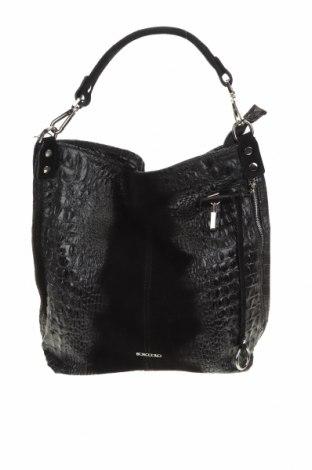 Дамска чанта Bosccolo, Цвят Черен, Естествена кожа, Цена 196,37лв.