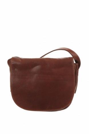 Дамска чанта Joan Weisz, Цвят Кафяв, Естествена кожа, Цена 47,88лв.