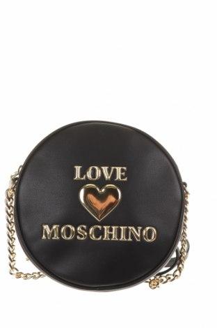 Дамска чанта Love Moschino, Цвят Черен, Еко кожа, Цена 210,97лв.