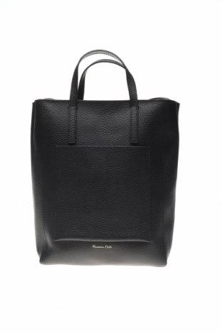 Дамска чанта Massimo Dutti, Цвят Черен, Естествена кожа, Цена 106,50лв.