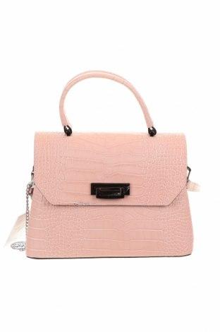 Γυναικεία τσάντα Mia Tomazzi, Χρώμα Ρόζ , Γνήσιο δέρμα, Τιμή 101,22€
