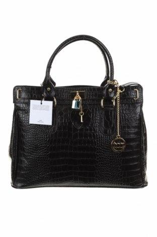 Дамска чанта Mia Tomazzi, Цвят Черен, Естествена кожа, Цена 240,17лв.