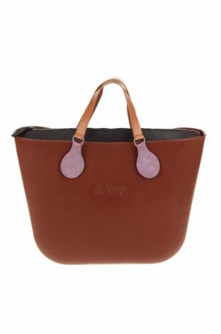 Дамска чанта O bag, Цвят Кафяв, Полиуретан, Цена 108,77лв.