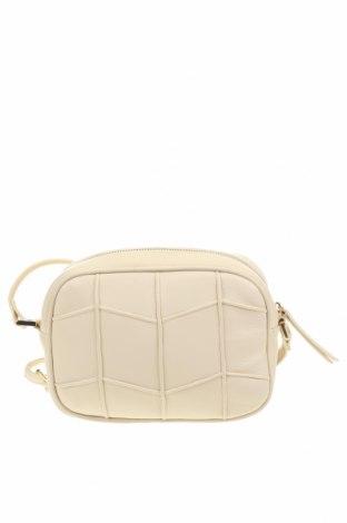 Дамска чанта Zara, Цвят Бежов, Естествена кожа, Цена 33,11лв.