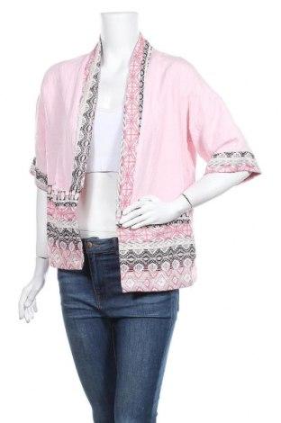 Дамска жилетка, Размер L, Цвят Розов, 65% памук, 35% полиестер, Цена 18,38лв.