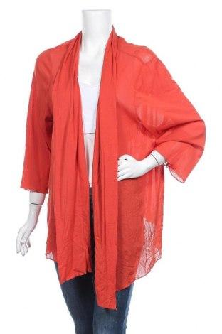 Дамска жилетка, Размер 4XL, Цвят Оранжев, Полиестер, Цена 9,66лв.