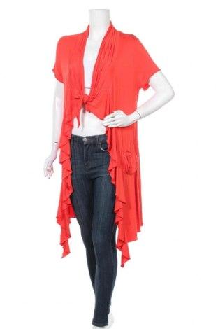 Дамска жилетка, Размер S, Цвят Червен, 95% вискоза, 5% еластан, Цена 7,94лв.