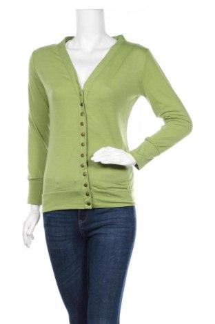 Дамска жилетка, Размер S, Цвят Зелен, 65% памук, 35% полиестер, Цена 16,38лв.