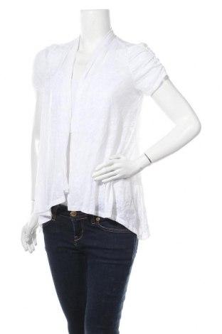Дамска жилетка Agb, Размер S, Цвят Бял, 76% полиестер, 24% памук, Цена 6,62лв.