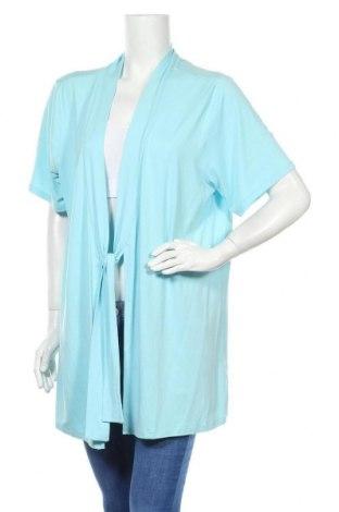 Γυναικεία ζακέτα Gina Laura, Μέγεθος XXL, Χρώμα Μπλέ, 95% βισκόζη, 5% ελαστάνη, Τιμή 5,46€