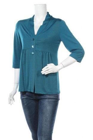 Дамска жилетка Kim & Co., Размер XS, Цвят Син, 92% полиестер, 8% еластан, Цена 8,19лв.