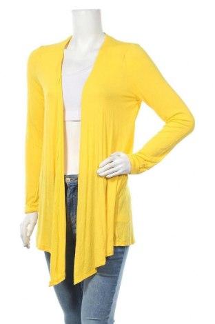 Дамска жилетка Manguun, Размер L, Цвят Жълт, 95% вискоза, 5% еластан, Цена 24,94лв.