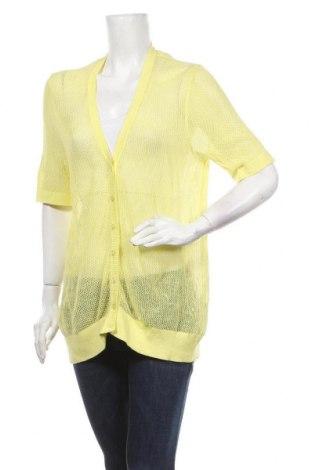 Γυναικεία ζακέτα Mix, Μέγεθος XL, Χρώμα Κίτρινο, Βαμβάκι, Τιμή 15,20€