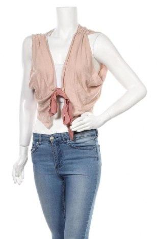 Дамска жилетка Naf Naf, Размер XL, Цвят Розов, 40% модал, 30% памук, 30% полиамид, Цена 16,20лв.