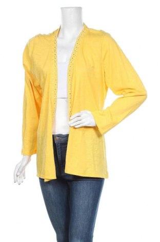 Дамска жилетка Onque Casuals, Размер XL, Цвят Жълт, 60% памук, 40% полиестер, Цена 12,29лв.