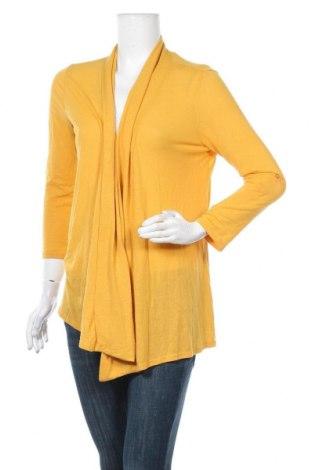 Γυναικεία ζακέτα Temt, Μέγεθος XL, Χρώμα Κίτρινο, 85% πολυεστέρας, 11% βισκόζη, 4% ελαστάνη, Τιμή 17,73€