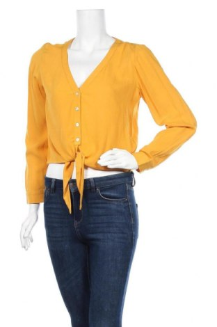 Γυναικείο πουκάμισο About You, Μέγεθος S, Χρώμα Κίτρινο, Βισκόζη, Τιμή 16,12€