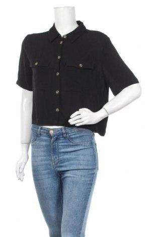 Γυναικείο πουκάμισο About You, Μέγεθος S, Χρώμα Μαύρο, Βισκόζη, Τιμή 13,04€