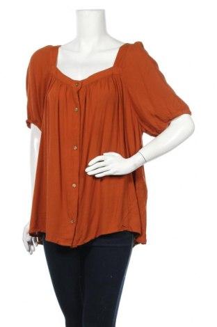 Γυναικείο πουκάμισο Anko, Μέγεθος XXL, Χρώμα Καφέ, Βισκόζη, Τιμή 11,69€