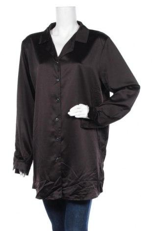 Γυναικείο πουκάμισο Boohoo, Μέγεθος L, Χρώμα Μαύρο, Πολυεστέρας, Τιμή 18,19€