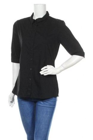 Дамска риза COS, Размер XL, Цвят Черен, 67% памук, 37% полиамид, 3% еластан, Цена 23,94лв.