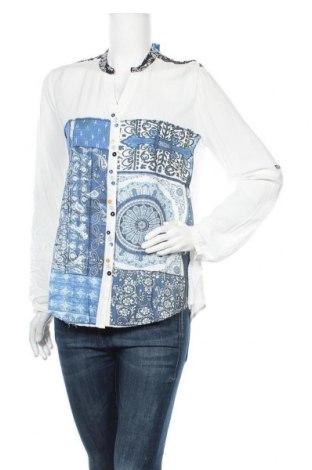 Дамска риза Desigual, Размер L, Цвят Бял, 92% вискоза, 8% полиестер, Цена 57,77лв.