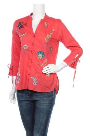 Dámská košile  Desigual, Velikost S, Barva Růžová, Bavlna, Cena  1259,00Kč