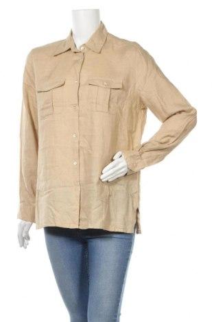 Γυναικείο πουκάμισο Henry Cotton's, Μέγεθος XL, Χρώμα  Μπέζ, 100% λινό, Τιμή 21,34€