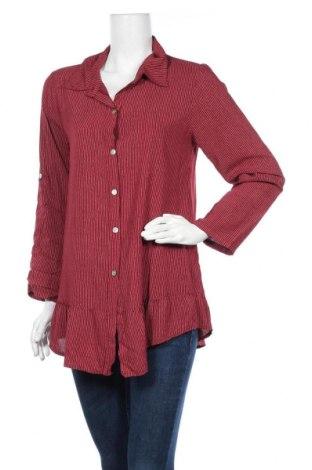 Дамска риза Lacony, Размер M, Цвят Червен, Вискоза, Цена 48,00лв.