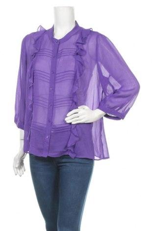 Γυναικείο πουκάμισο Liz Jordan, Μέγεθος XL, Χρώμα Βιολετί, Τιμή 11,72€