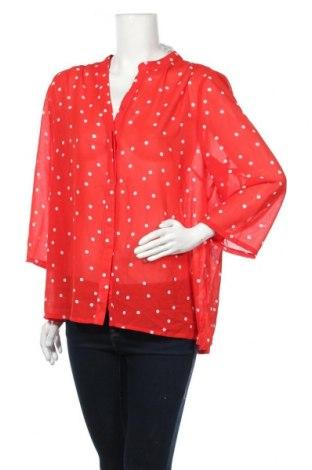 Γυναικείο πουκάμισο Liz Jordan, Μέγεθος XL, Χρώμα Κόκκινο, Πολυεστέρας, Τιμή 10,13€