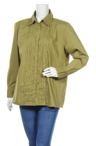 Γυναικείο πουκάμισο Maggie T, Μέγεθος XXL, Χρώμα Πράσινο, 62% βαμβάκι, 33% πολυεστέρας, 5% ελαστάνη, Τιμή 7,01€