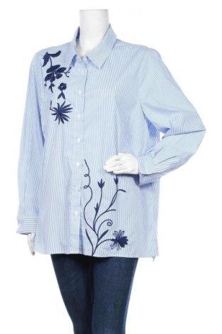 Γυναικείο πουκάμισο Maggie T, Μέγεθος XXL, Χρώμα Μπλέ, 65% πολυεστέρας, 32% βαμβάκι, 3% ελαστάνη, Τιμή 7,40€