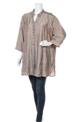 Γυναικείο πουκάμισο Maggie T, Μέγεθος XXL, Χρώμα  Μπέζ, Τενσελ, πολυαμίδη, Τιμή 12,47€