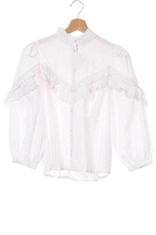 Γυναικείο πουκάμισο Mbym, Μέγεθος XS, Χρώμα Λευκό, 55% πολυεστέρας, 45% βαμβάκι, Τιμή 18,85€