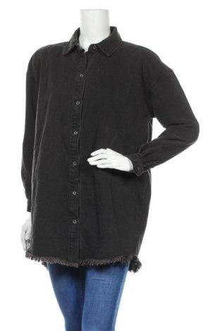Γυναικείο πουκάμισο Missguided, Μέγεθος M, Χρώμα Μαύρο, 59% βαμβάκι, 41% πολυεστέρας, Τιμή 14,69€