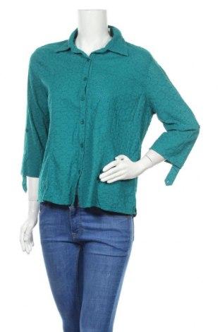Γυναικείο πουκάμισο Noni B, Μέγεθος XL, Χρώμα Πράσινο, Βαμβάκι, Τιμή 11,11€