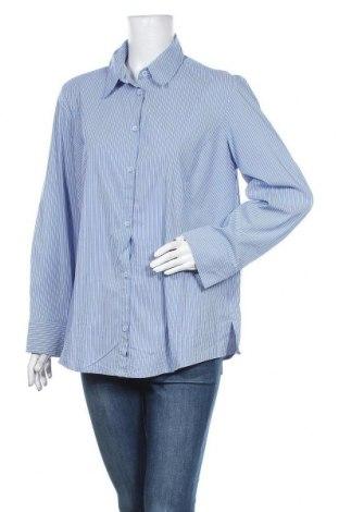 Γυναικείο πουκάμισο Noni B, Μέγεθος XL, Χρώμα Μπλέ, 64% βαμβάκι, 33% πολυεστέρας, 3% ελαστάνη, Τιμή 11,11€
