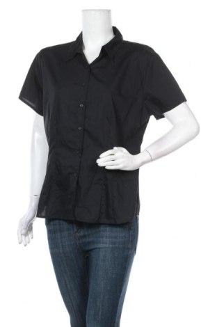 Γυναικείο πουκάμισο Now, Μέγεθος XXL, Χρώμα Μαύρο, Βαμβάκι, πολυεστέρας, Τιμή 20,98€