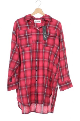 Γυναικείο πουκάμισο Replay, Μέγεθος XS, Χρώμα Ρόζ , Βαμβάκι, Τιμή 45,21€
