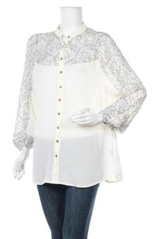 Γυναικείο πουκάμισο Rivers, Μέγεθος XL, Χρώμα Εκρού, Πολυεστέρας, Τιμή 25,92€