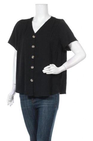 Γυναικείο πουκάμισο Rivers, Μέγεθος XL, Χρώμα Μαύρο, Πολυεστέρας, Τιμή 11,11€