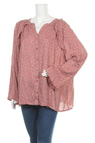Γυναικείο πουκάμισο Rockmans, Μέγεθος XXL, Χρώμα Ρόζ , 99% βισκόζη, 1% μεταλλικά νήματα, Τιμή 12,34€