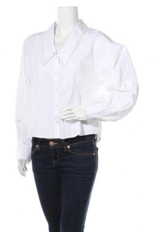 Γυναικείο πουκάμισο Selected Femme, Μέγεθος L, Χρώμα Λευκό, Βαμβάκι, Τιμή 9,18€